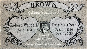 Brown Light Gray headstones grave markers deep cut sanded panel oceanside ca