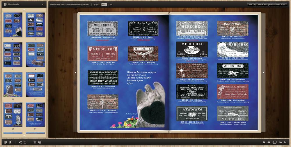 Flat Headstone Grave Maker Design book